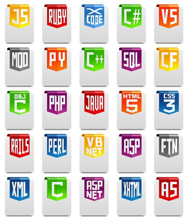 プログラム言語・開発環境のイメージ写真。JS, Javascript, Ruby on rails, X-code, C#, VS, MOD, Python, C++, SQL, CF, Objective C, PHP, JAVA, html 5, CSS, CSS 2, CSS 3, Rail 5, Perl, VB.NET, ASP, FTN, XML, C, ASP.NET, xHtml, AS
